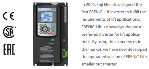 Fuji FRENIC Lift Drives (FRN LM2) series for lifts and hoisting