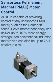 Control at your fingertips with Parker vfd AC10 series.
