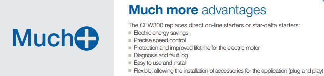 WEG vfd CFW300 Mini Drive series main resources.