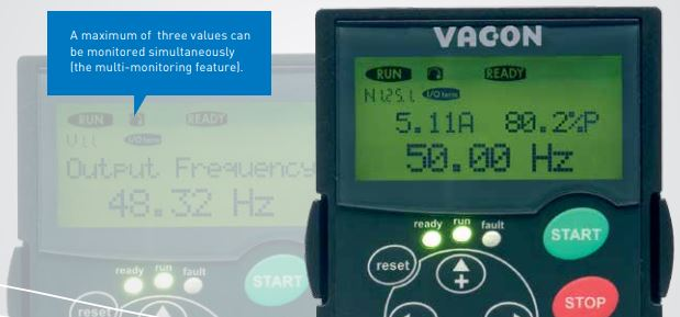 Vacon vfd NXS series - first-class usability.